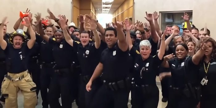 police department lip sync uptown funk