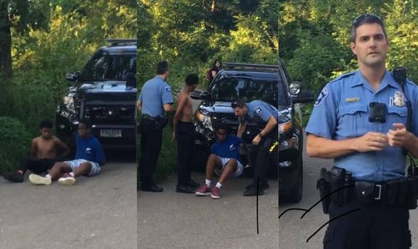 Minneapolis Park police detained two unarmed black teenagers on Tuesday after a 911 caller accused them of carrying weapons and assaulting her boyfriend.