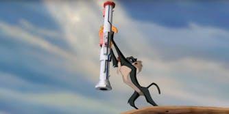 Pool Noodle Bazooka Lion King mashup