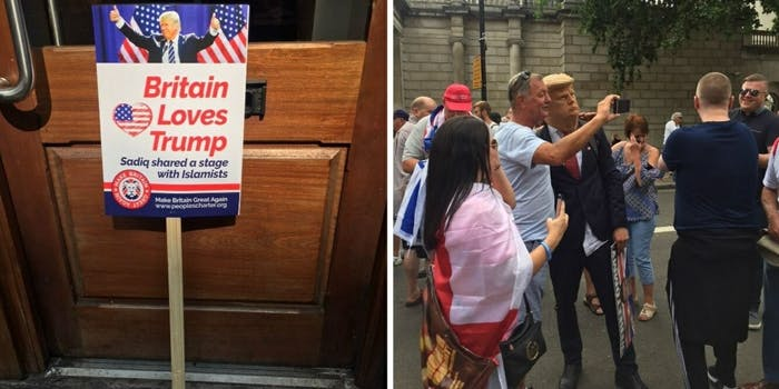 Pro Donald Trump rally London