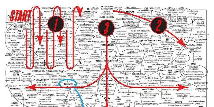 qanon conspiracy theory map