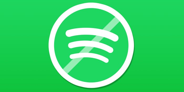 spotify logo with crossbar