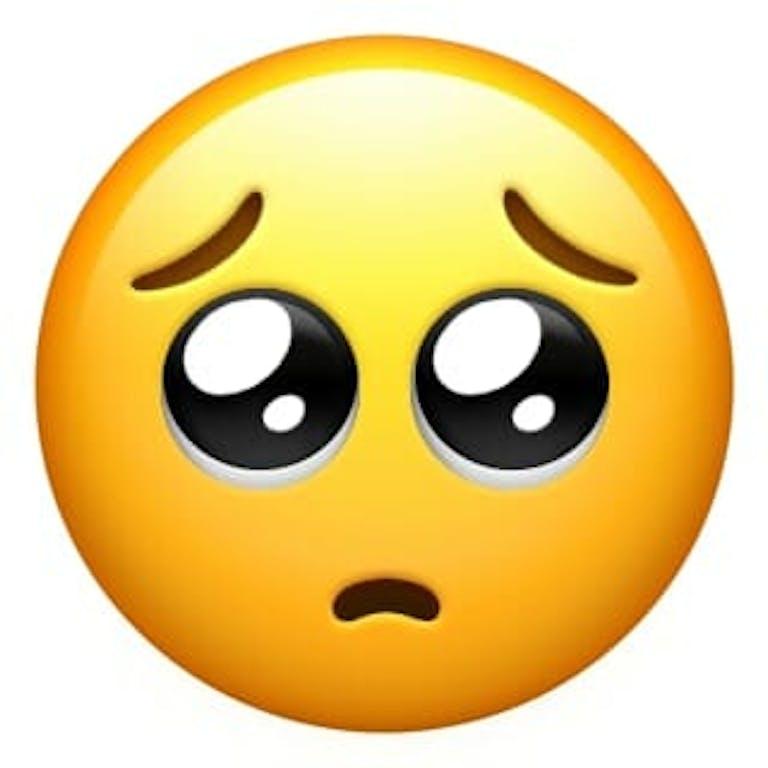 Pleading face emoji