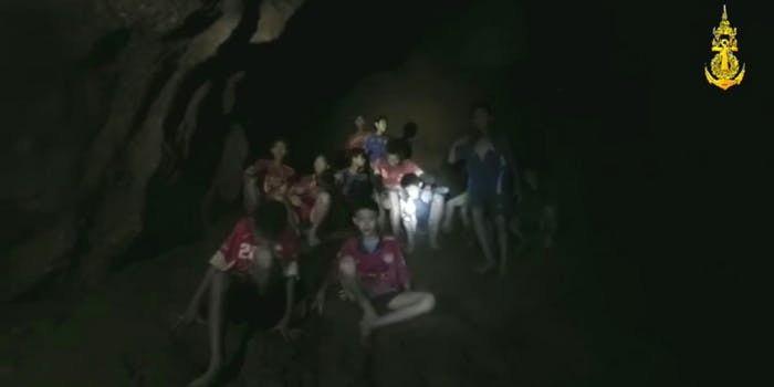 The Thai soccer team that went missing has been found underground in caves by divers.