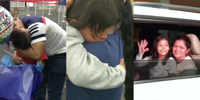 Immigrant children are being reunited with their parents.