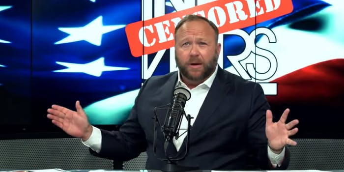 Spotify, the music streaming app, has removed 'specific episodes' of InfoWars host Alex Jones's podcast, according to a new report.