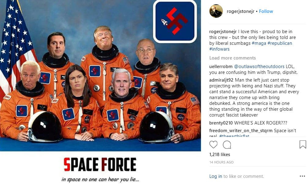 Roger Stone Swastika Space Force