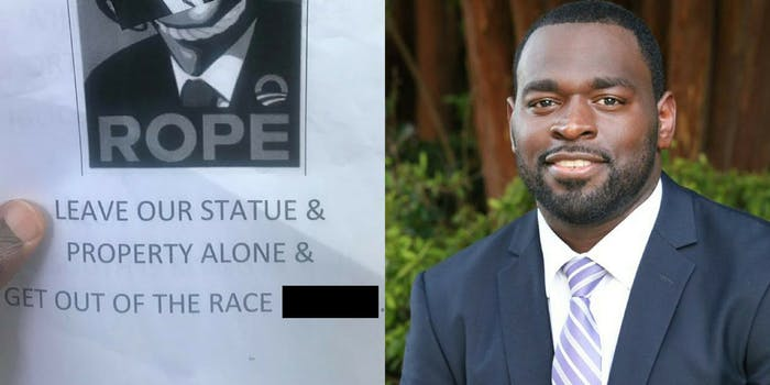 Shreveport, Louisianna, mayoral candidate Steven Jackson says he received a lynching threat.