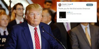 President Donald Trump continued his offensive against former administration officialOmarosa Manigault Newman on Thursday by retweeting a GOP-made video that shows her showering the president with praise.