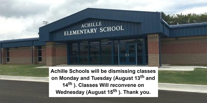 achille elementary school dismisses classes for a week due to threats toward transgender student