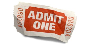 admit one movie ticket