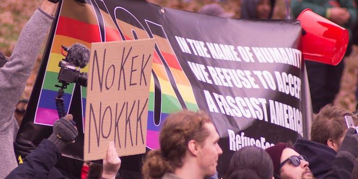 antifacist rally