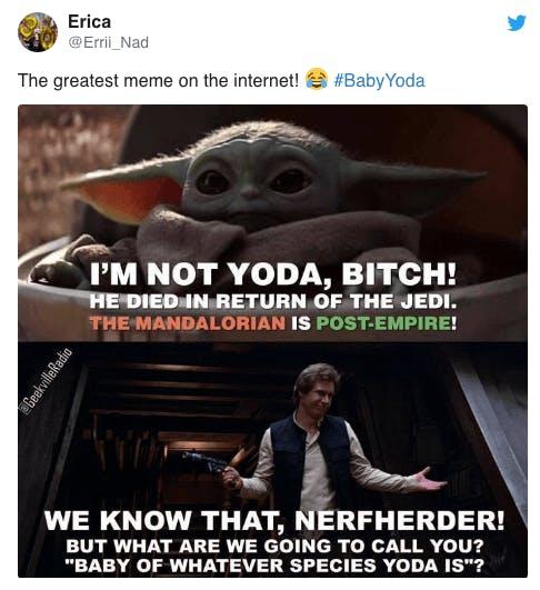 baby yoda nerd meme