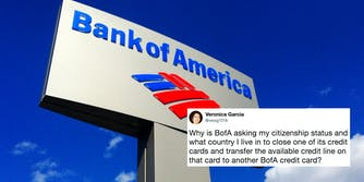 Bank of America is asking about customers' citizenship statuses.
