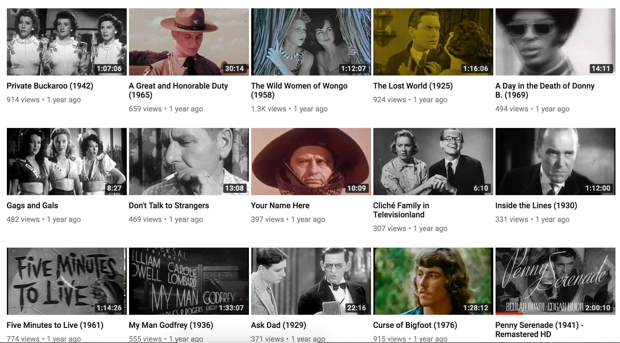 full length movies on youtube