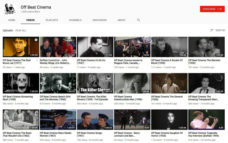 full movies on youtube - Off Beat Cinema
