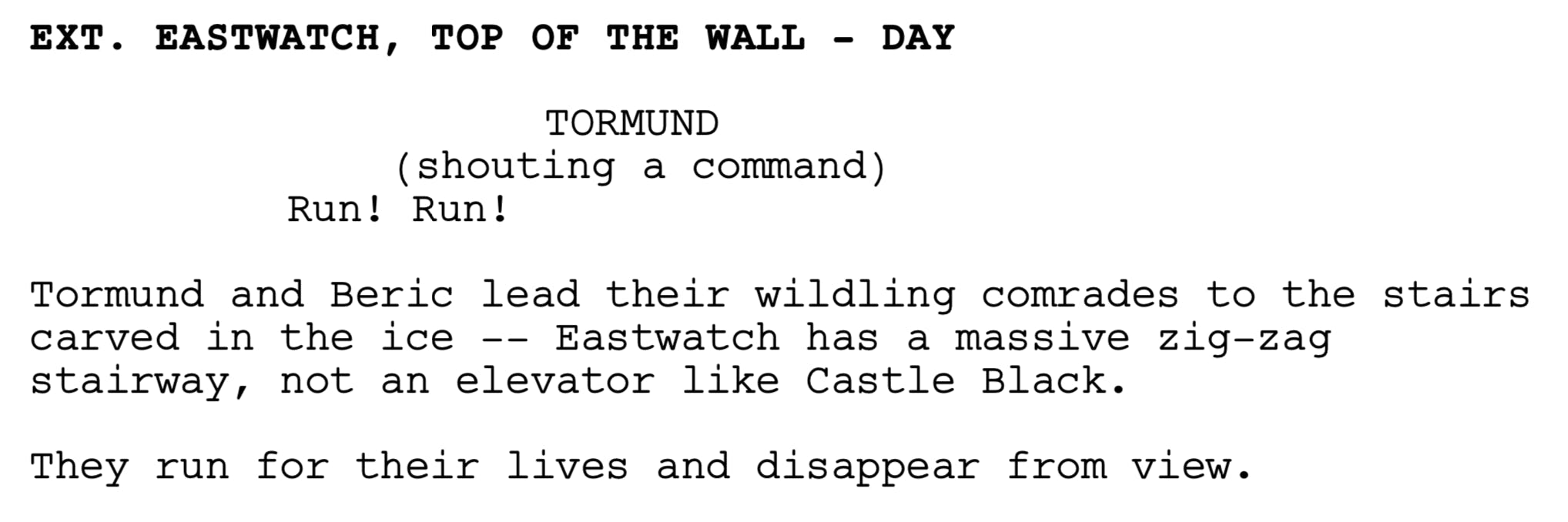 game of thrones season 8 the dragon and the wolf script