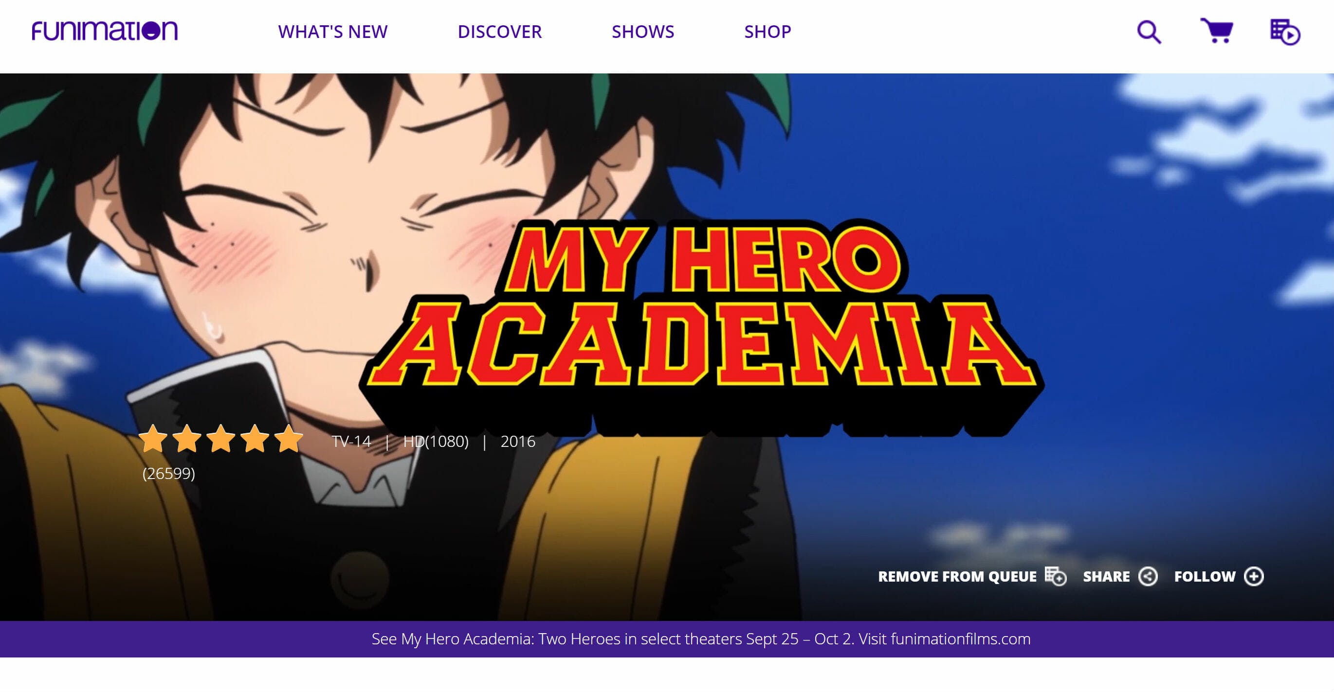 how to watch my hero academia - funimation