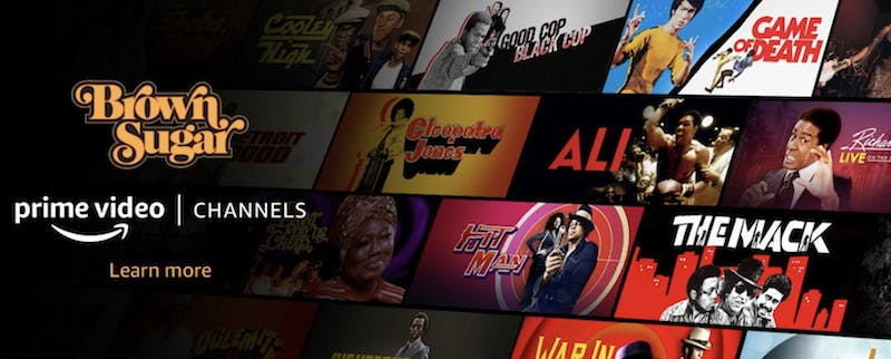 The prime video menu showing the show title Brown Sugar