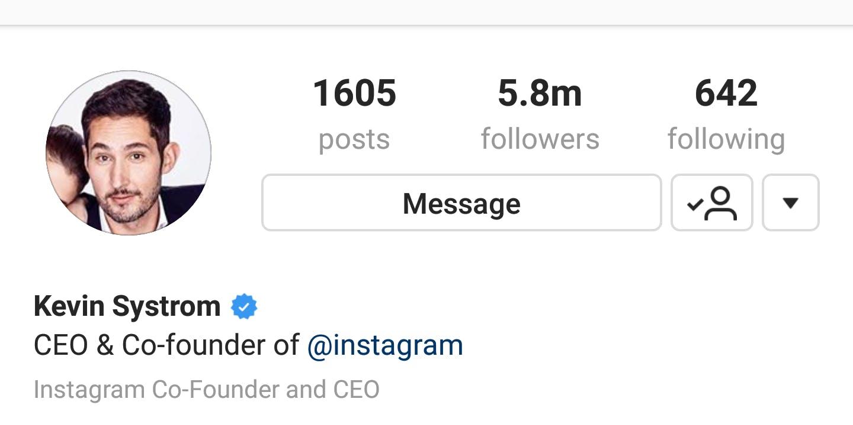 how to verify instagram status