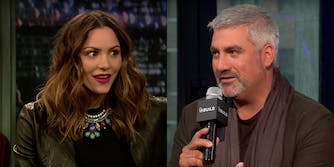 Katharine McPhee shades Taylor Hicks with a tweet encouraging people to vote.