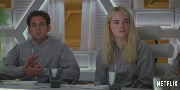 Emma Stone and Jonah Hill star in Netflix's coming series 'Maniac.'