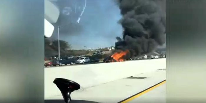 McSkillet YouTube car crash