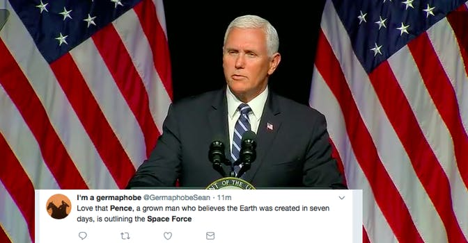 pence space force