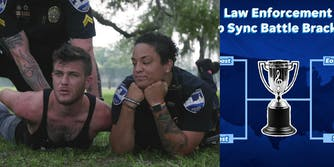 Police compete in 'USA Today's lip sync challenge bracket.