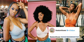 People are showing that #SaggyBoobsMatter after social media influencer Chidera Eggerue's movement.