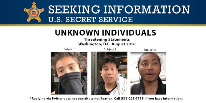 secret service searches for antifa members