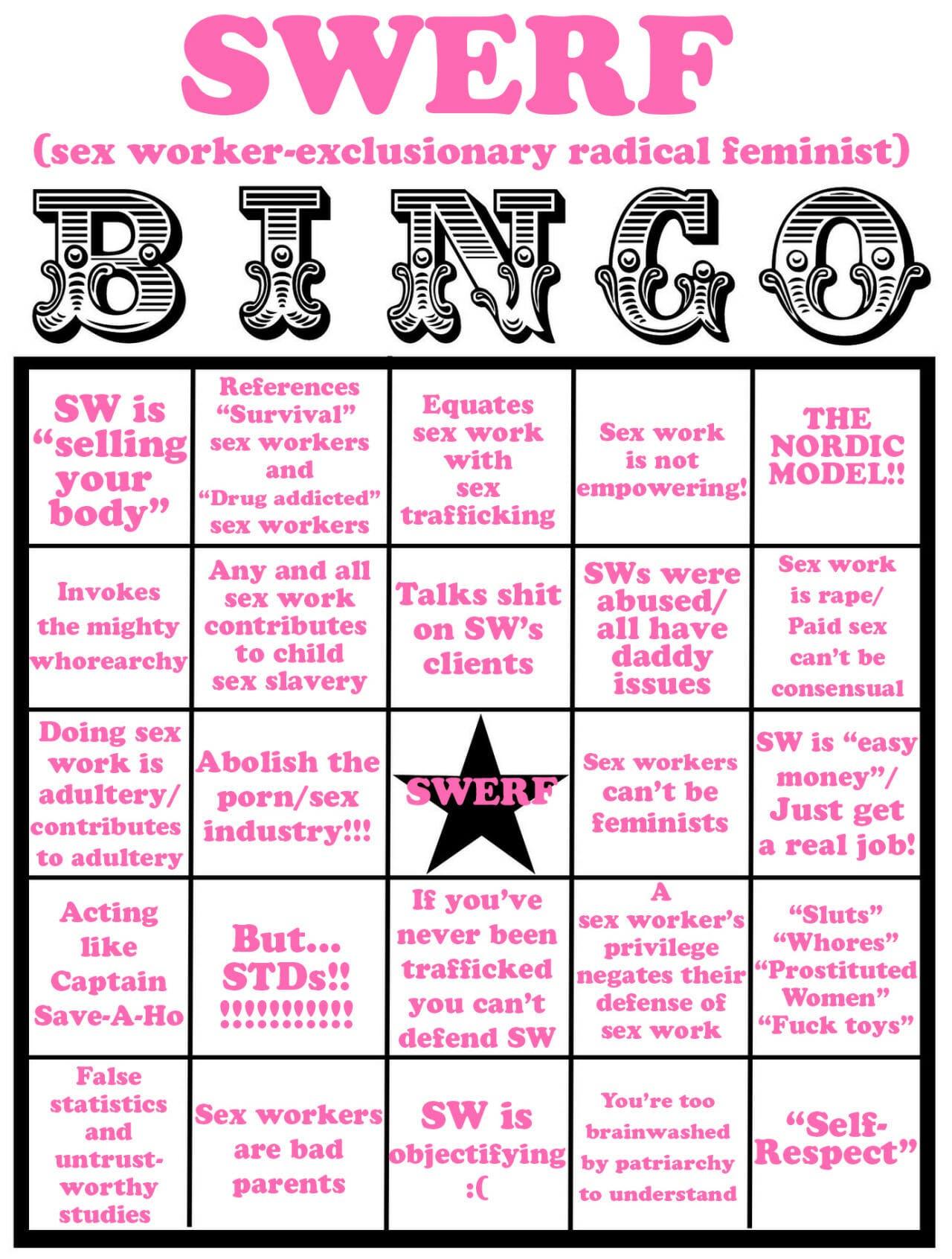 swerf bingo