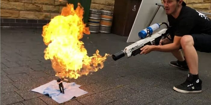 Syndicate YouTube Tom Cassell flamethrower