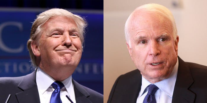 President Donald Trump issued a statement on the death of Sen. John McCain.
