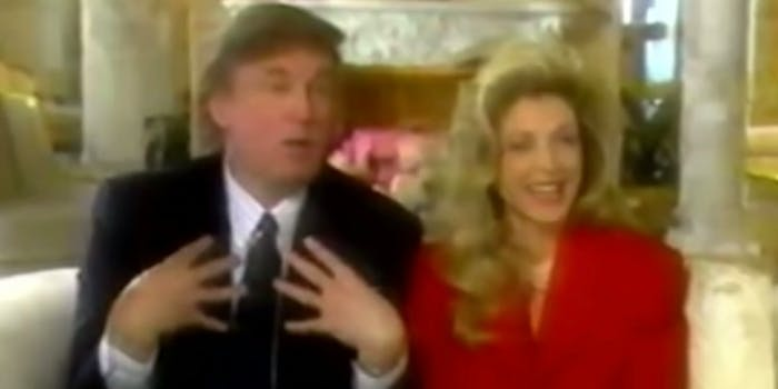 Trump talks about his 1-year-old daughter Tiffany's legs and breasts in a 1994 interview with Robin Leach.