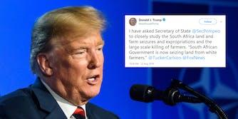 trump south african farmer tweet