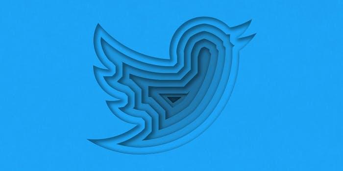 twitter logo layered papercut