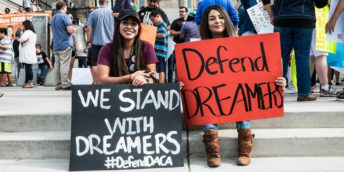 we stand with dreamers defend daca protest