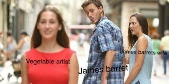 James Barrett's wife