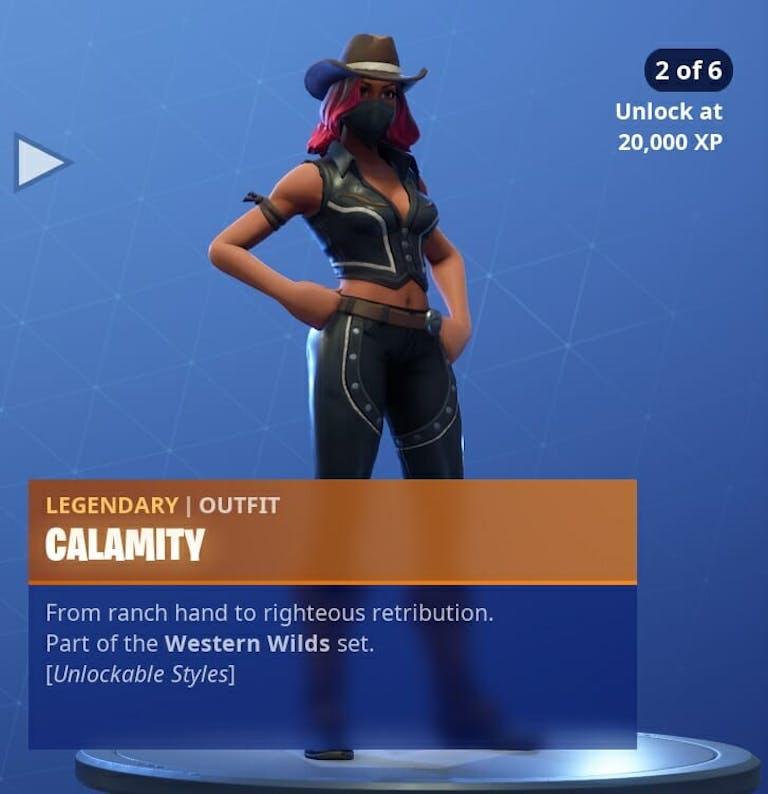 Fortnite Season 6 new skins : Calamity's second skin in Fortnite.