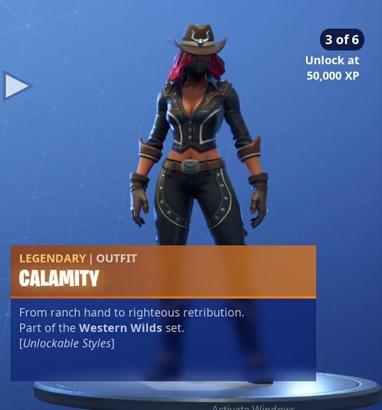 Fortnite Season 6 new skins : Calamity's third phase.