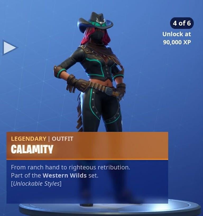 Fortnite Season 6 new skins : Calamity's 4th skin in Fortnite
