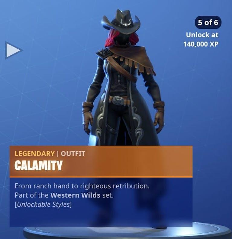 Fortnite Season 6 new skins : Calamity's 5th Fortnite phase is quite impressive