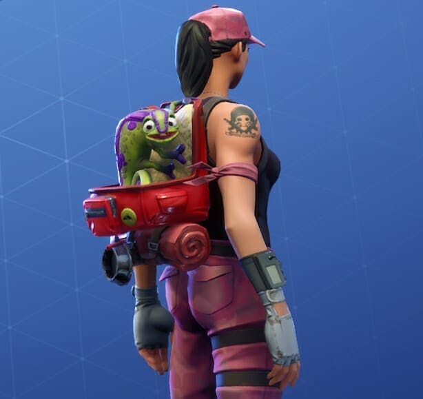 Camo is Fortnite's second pet, and he's a chameleon!