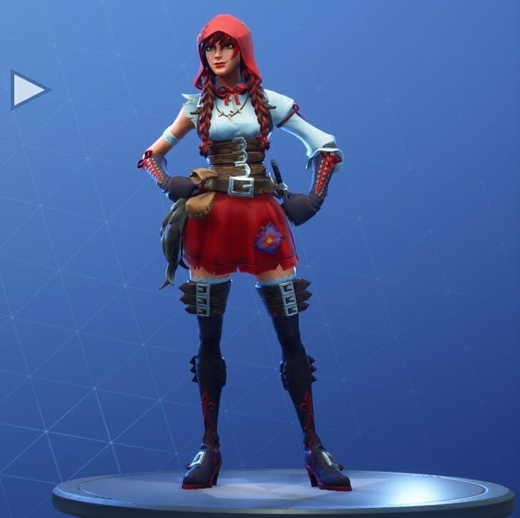 Fortnite Season 6 new skins - Fortnite's Fable skin is an impressive take on Little Red Riding Hood.