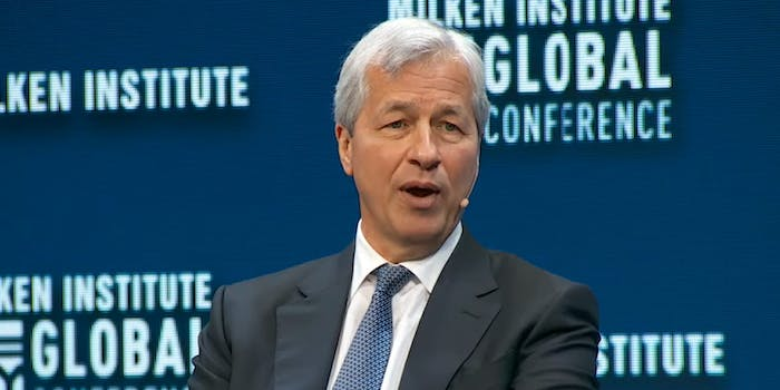 JPMorgan Chase CEO Jamie Dimon seemed to think he'd have a good chance at defeating President Donald Trump in a hypothetical presidential race–but had some second thoughts about his prediction shortly after making it.