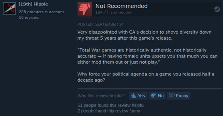 comments on steam