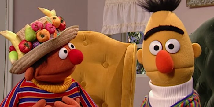 Sesame Street once again denies that Bert and Ernie are a gay couple—and Twitter is freaking out.