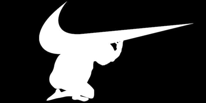 colin kaepernick as atlas with nike logo