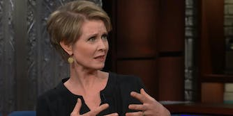 People on Twitter are grossed out by Cynthia Nixon's choice of bagel flavor combination.